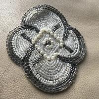 Antique Beaded Dress GlassBeading Embellishment Bridal Wedding 1920s 5 Available