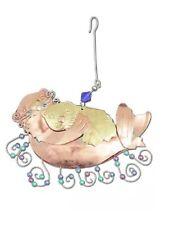 Momma Baby Otter Ornament Metal Fair Trade Pilgrim Imports