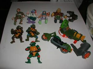 RARE TMNT TURTLES 1988-89 FIGURES AND EXTRAS BUNDLE