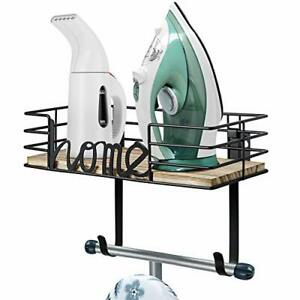T Shape Ironing Board & Iron Storage Metal & Wood Hardware Included Easy Install