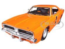1969 DODGE CHARGER R/T HARLEY DAVIDSON ORANGE 1/25 DIECAST CAR BY MAISTO 32196