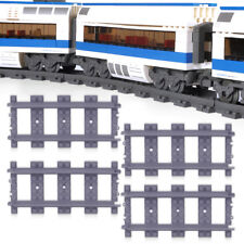 18pcs Straight Train Track Railroad Non-Powered Rail Grey fit for Block Toy