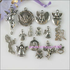 30Pcs Mixed Lots of Tibetan Silver Tone Angel Charms Pendants