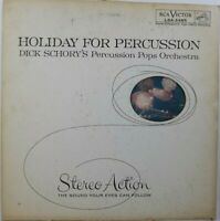 """Dick Schory's Holiday For Percussion Pops Orchstra Music 12"""" LP Album Vinyl"""