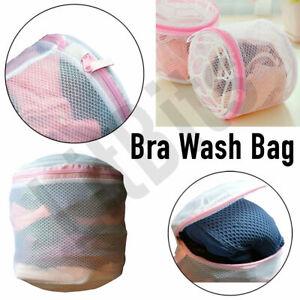 REUSABLE Zipped Laundry Washing Bag Net Mesh Dedicated Underwear Bra Clothes UK