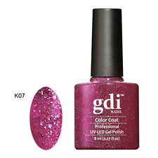 Diamond Glitter Nail GEL Polish by GDI Nails London UV LED Soak 8ml Post K07 - Wild Jazzberry