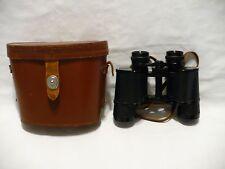 Vtg Japan Nippon Kogaku Tokyo Mikron Binoculars 8x35 7 degree w/ leather case