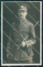 WWI WW1 War British Officier Soldier RPPC postcard XF3343