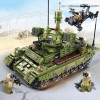 894pcs Militär Panzer Tank Gepanzerter Modell Bausteine mit Armee Soldat Figuren
