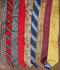 Land' End Men LOT 9 100 % Silk Neckties (LOT 2342)