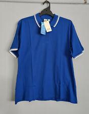 Biz Collection Ladies P227LS Cambridge Royal Blue Short Sleeve Polo Size 22 New