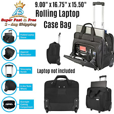 Laptop Bags With Wheels Briefcase Rolling Laptop Case 16 Inch Wheeling Wheeled