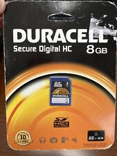 Duracell Secure Digital HC 8 GB Memory Catd ***Brand New***