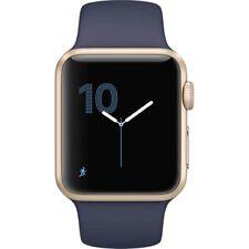 Apple WATCH SPORT 38mm Aluminum Gold Case MQ102LL/A Midnight Blue Band