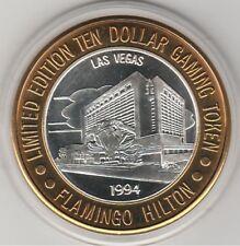 1993 Flamingo Hilton 1994 Vegas Casino .999 Fine Silver Strike $10 Casino Token