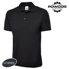 Mens Plain Polo Shirt Pique Top Work Wear T-Shirt Casual Sports S-6XL UC101
