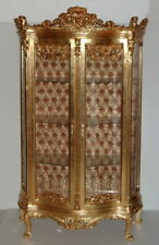 GLASS CASE BAROQUE STYLE GOLD GLASS CASE # AS43