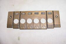 Tube Radio Part Brass Push Button Face Plate Escutcheon