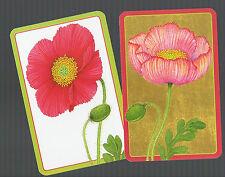 Playing Swap Cards  2  SEMI  VINT   DELUXE  GENUINE  CASPARI   POPPIES  W573