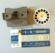 Vintage VIEW MASTER Viewer 9 Reels Aircraft Carriers Ringling Circus London More