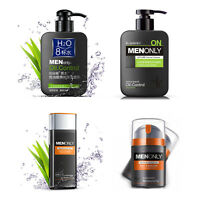 Men Skin Care Oil Control Deep Cleaning Face Wash Cleanser Moisture Toner Lotion