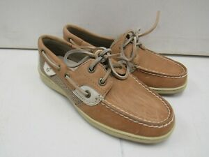 WOMENS SPERRY TOP-SIDER BILLFISH 2 EYED BOAT SHOES 9276619 SZ 5  V495
