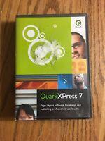 Quark XPress 7 Mac / Windows Education Mac Windows PC Software Program Used Case
