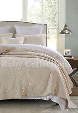 Vintage Premium Cotton Quilt Bedspread Coverlet Set 3 piece Queen King