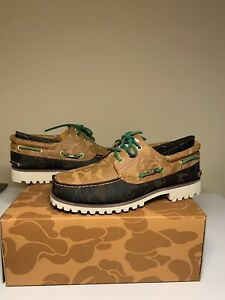 Men's Size 11.5 BAPE x TIMBERLAND THREE EYE LUG CLASSIC Hand Sewn Shoes (DS)