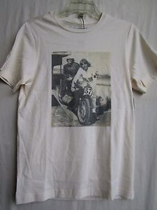 """TROY LEE DESIGNS TLD tee t shirt MENS SMALL """"SEARS POINT"""" 1452-4208 beige"""
