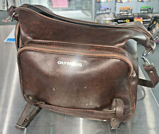 Olympus Holdall M Brown Leather camera bag, 1970s - classic !