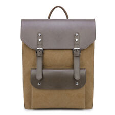 Fashion Canvas Leather Backpack Multi-Functional Retro Portable Computer Bag BR