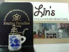 Reutter porcelain Dolls House 1:12th Scale Blue Onion Patterned Stein Beer 19630