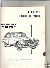 RTA REVUE TECHNIQUE 1968 - RENAULT 16 TS + SALON AUTO PARIS