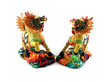 A Pair of  feng shui Imperial Guardian Chi Lin/kei Loon/qi Lin for Anti Bad Chi