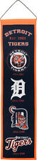 """Detroit Tigers 32"""" Embroidered Genuine Wool Heritage Banner NWT MLB"""