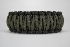 550 Paracord Survival Bracelet King Cobra Black/OD Green Camping Tactical