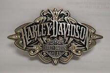 HARLEY DAVIDSON LADIES BELT BUCKLE WITH CRYSTALS. GENTLY USED IN GREAT CONDITION