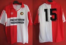 Maillot Adidas Feyenoord Rotterdam n°15 Vintage Football ancien - L