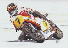 Barry sheene suzuki moto RG500 moto racing carte d'anniversaire
