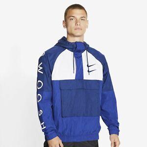 Men's Nike Sportswear Swoosh Woven Jacket CU3885 455 Size Medium $130 Retail