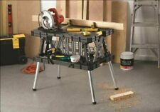 Keter Folding Compact Workbench Sawhorse Work Table Bench Clamps 1000 Lb Wood