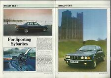 1987 BMW 735 Road Test article, BMW 735iSE, from British auto magazine