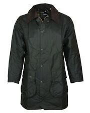 NEW Mens Barbour Border Waterproof Wax Jacket Sage Green Size 46 Chest