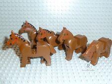 LEGO® System 5x Braune Pferde 4493c01 Town Classic Ritter Indianer R537