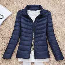 Womens Winter Warm Quilted Padded Puffer Bubble Ultralight Down Lady Jacket Coat