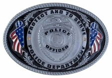 Police Officer Belt Buckle - 3D Colored Enamel Belt Buckle - BRAND NEW!