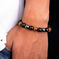 Natural Black Obsidian Hematite Magnetic Tiger Eye Beads Bracelets Men Women Hot