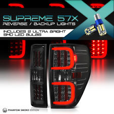 """!360 Degree SMD BACKUP! For 09-14 Ford F150 """"Cyclop TuBe"""" Smoke LED Tail Lights"""