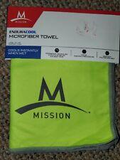 "Mission Enduracool Microfiber Cooling Towel Green., Large 12""×33"""